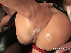 Hardcore anal sex and fist...